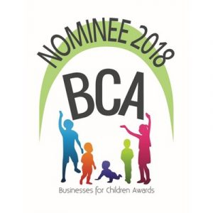 Incredibly honoured to be nominated under THREE Awards for the Business for Children Awards