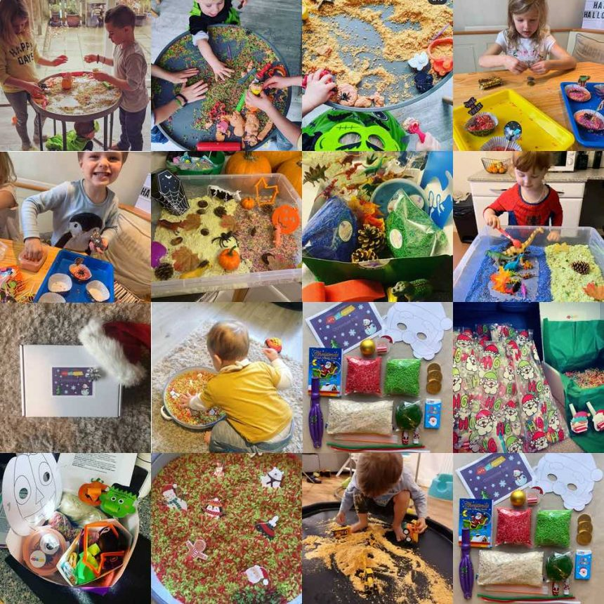 Messy Play Box Photos